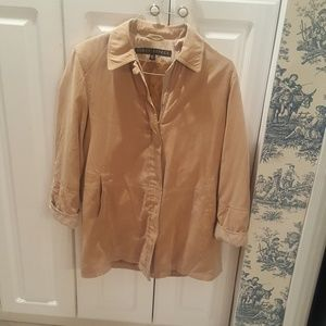 Jackets & Blazers - Tan Suede Jacket